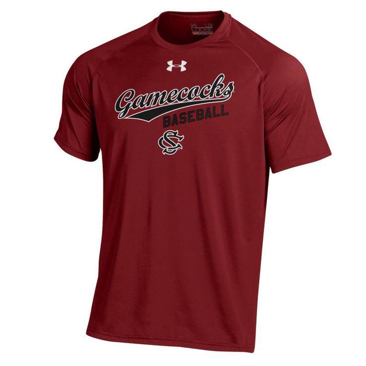 South Carolina Gamecocks Under Armour Baseball Performance Tech T-Shirt - Garnet