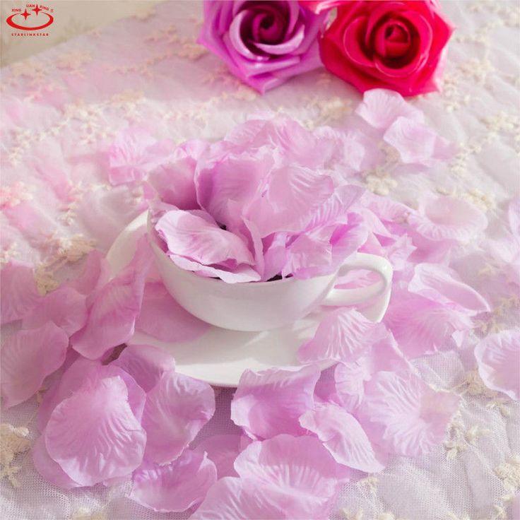 100/1000pcs Simulation Rose Petals Wedding Party Table Confetti Decorations New