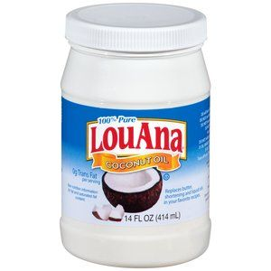 LouAna 100% Pure Coconut Oil, 14 fl oz Replacement for butter and veg oil!:)