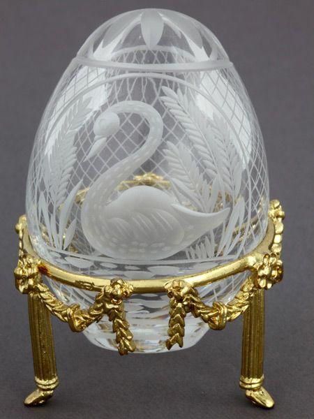 Faberge. St. Peterbutg petit egg collection. Clear Crystal Swan egg. ۩۞۩۞۩۞۩۞۩۞۩۞۩۞۩۞۩ Gaby Féerie créateur de bijoux à thèmes en modèle unique ; sa.boutique.➜ http://www.alittlemarket.com/boutique/gaby_feerie-132444.html ۩۞۩۞۩۞۩۞۩۞۩۞۩۞۩۞۩
