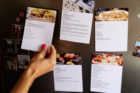 Great idea for go-to recipes.