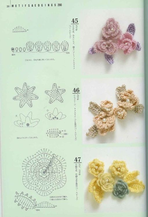 crochet ... flores