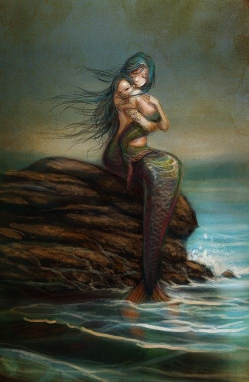 Mama Mermaid with Baby mermaid-stuff