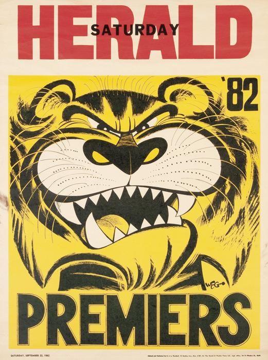 Richmond: 1982 original losing Weg poster, size 50 x 66 cm.…