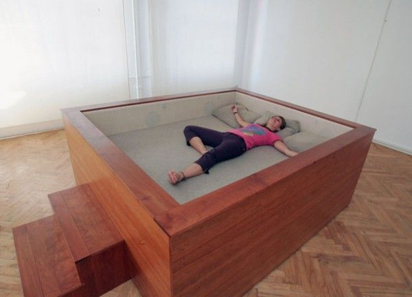 Sonic Bed - allows you to sink into your bed and listen to music that flows through your body