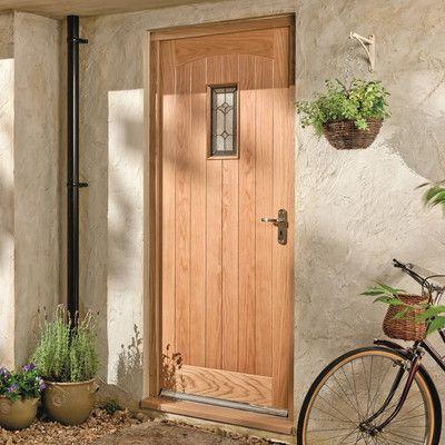 Jeld Wen Croft Triple Glazed White Oak Veneer External Door