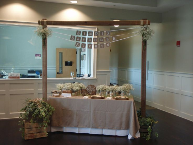 rustic elegant bridal show booths for planners | My booth at Elegance in the Park Bridal Show August 28, 2011 at the ...