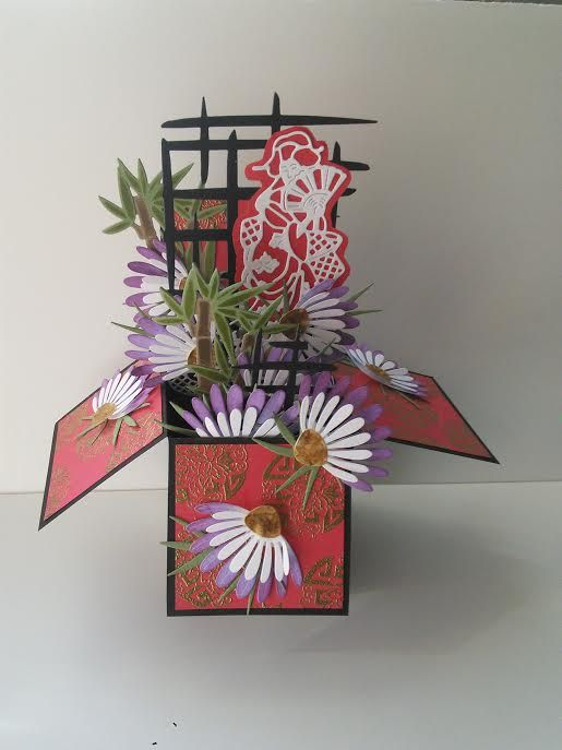 Pop Up Box Card - Japanese Style