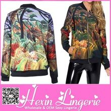 Stocklots fashionable 2014 Printed leather jacket women  Best Buy follow this link http://shopingayo.space