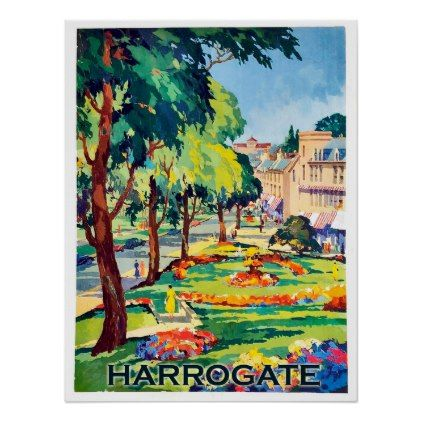 Harrogate spa center Yorkshire England Poster - decor gifts diy home & living cyo giftidea
