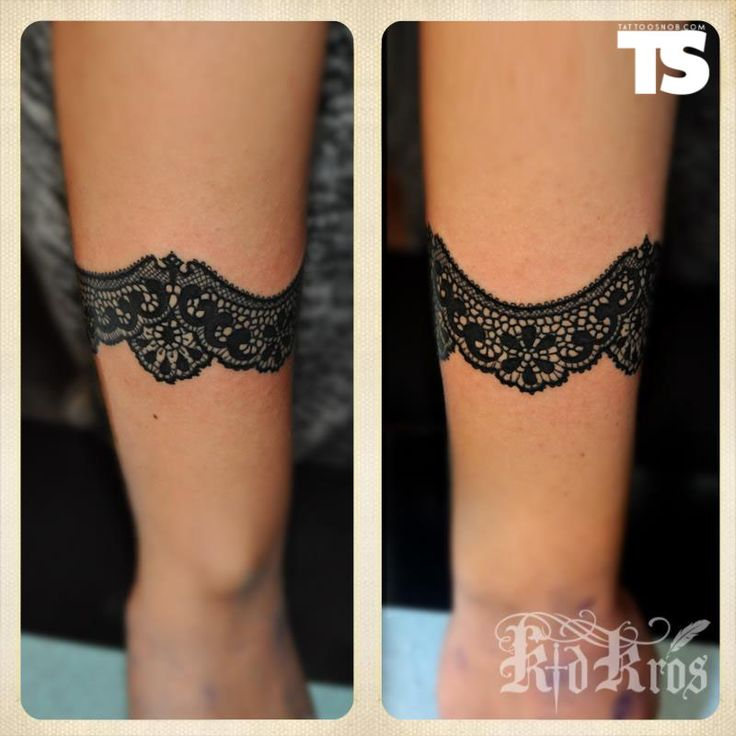 wrap around lace tattoo by kid kros dentelle roses jarreti re pinterest tattoo photos kid. Black Bedroom Furniture Sets. Home Design Ideas