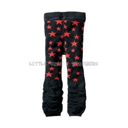 Czarne legginsy Nissen w czerwone gwiazdy - Dziewczynki - Legginsy - Little Rose & Brothers