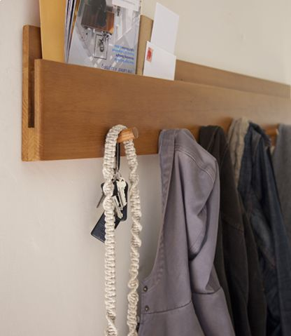I don't see any reason I couldn't DIY this Muir Wall Coat Rack from Amenity Home