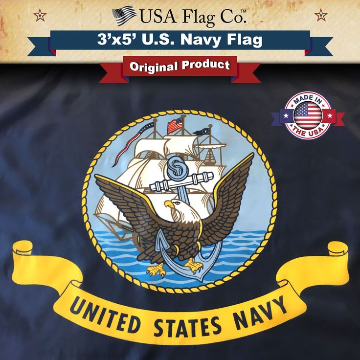 The BEST United States Navy Flag by USA Flag Co. |  http://www.usaflagco.com/products/us-navy-flag