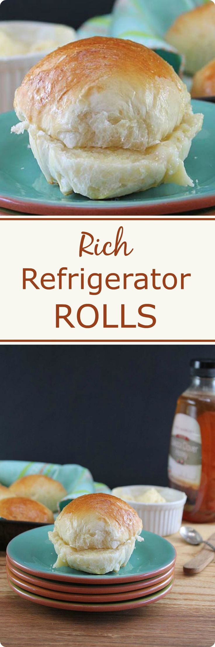 Rich Refrigerator Rolls | Rich Refrigerator Rolls are a flavorful and perfectly light dinner roll, quick to put together and refrigerated over night before baking. Find recipe at redstaryeast.com. #yeastrolls #bread #baking