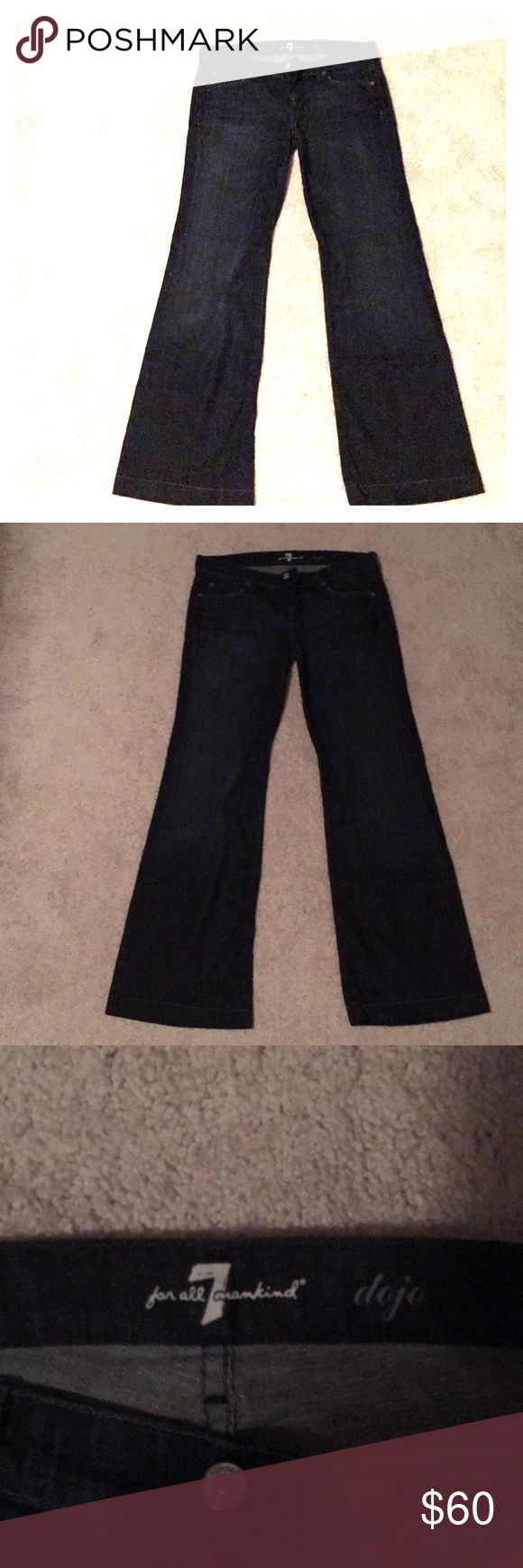 NWOT 7 for all man kind jeans 7 for all man kind wide leg jeans. Brand new, without tags. Great condition. Tore tags off when I brought them but I Never worn. Comes from a smoke and pet free home. 7 For All Mankind Pants Wide Leg