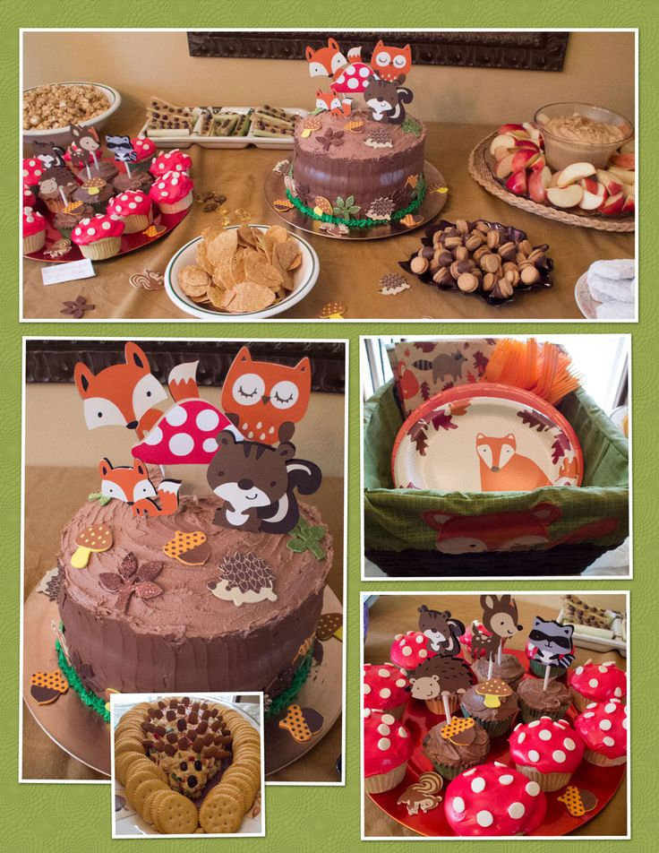 at my daughter 39 s woodland themed baby shower baby shower ideas