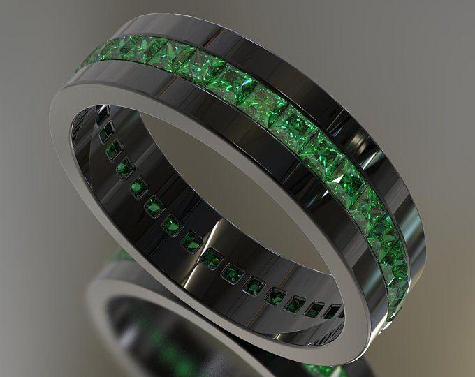 Man Emerald Ring Unique Man Wedding Band Black Gold Emerald Etsy In 2020 Emerald Wedding Band Mens Emerald Rings Mens Wedding Bands