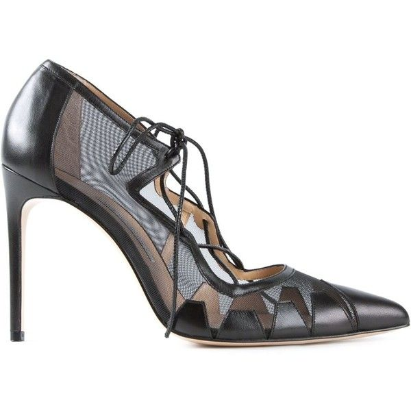 Bionda Castana Dekota Mesh Pumps (14 780 UAH) ❤ liked on Polyvore featuring shoes, pumps, black, black shoes, bionda castana shoes, bionda castana pump, black pumps and mesh pumps