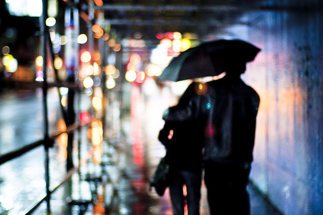 """""""I feel the familiar coolness beneath my shoes and realize it's rained earlier. How appropriate. We're just strangers in the night, fleeing from this place without so much as a 'thank you and goodnight'. """""""