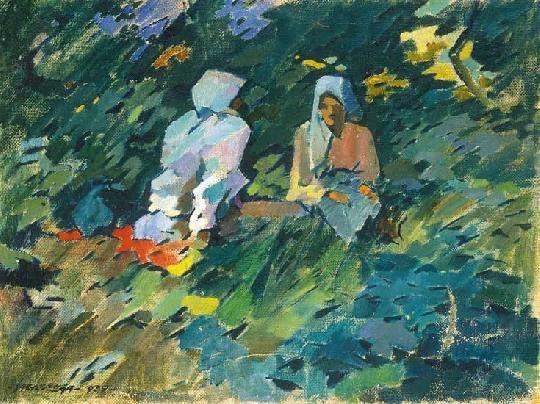 Fűben Ülő Lányok