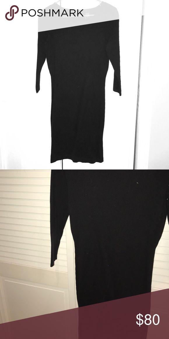 Tight black dress, 3/4 sleeve length, soft Nice never worn black dress Moda International Dresses Mini