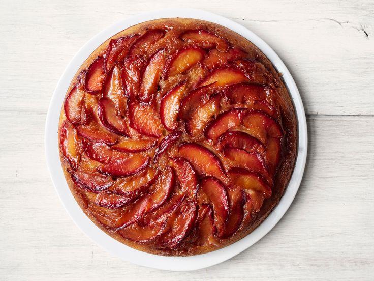 Plum Upside-Down Cake with Lemon Recipe : Food Network Kitchen : Food Network - FoodNetwork.com