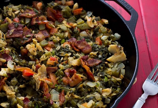 This Jamaican Callaloo and Saltfish recipe is the perfect main course or side dish for any meal. Generally eaten for breakfast in Jamaica, this delicious dish can be served at any time of the day. This post contains affiiliate links, read my full disclosure here. What a gwan? Translation: What is going on?!? You gon...Read More »