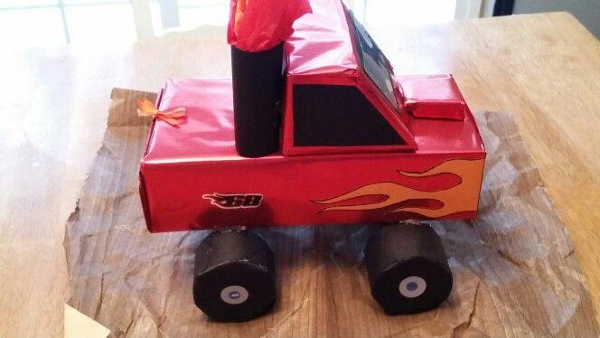 Monster truck valentines day box