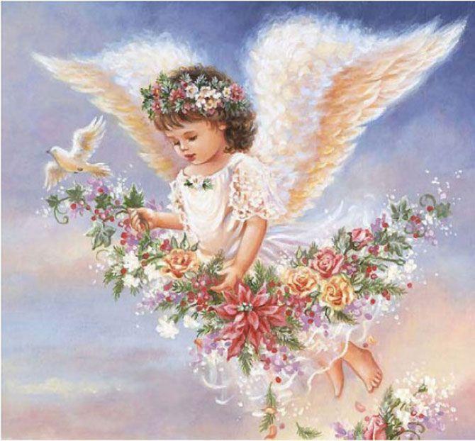 Открытки с цветами и ангелочками, красивой девушке картинки