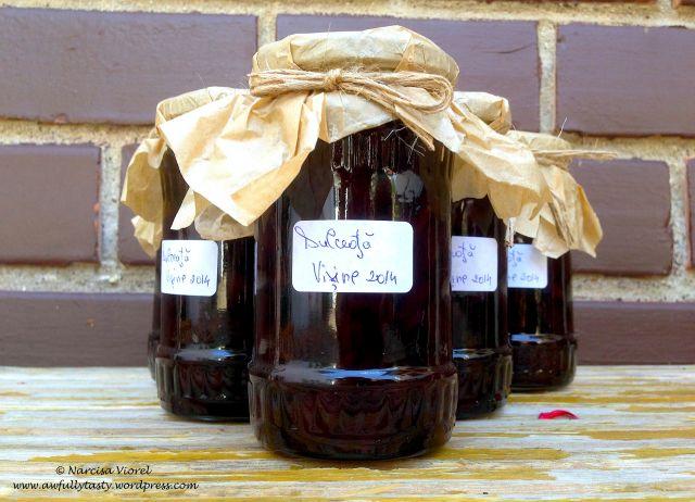Dulceata de visine. Sour cherry jam.