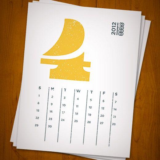 My new printable calendar design.