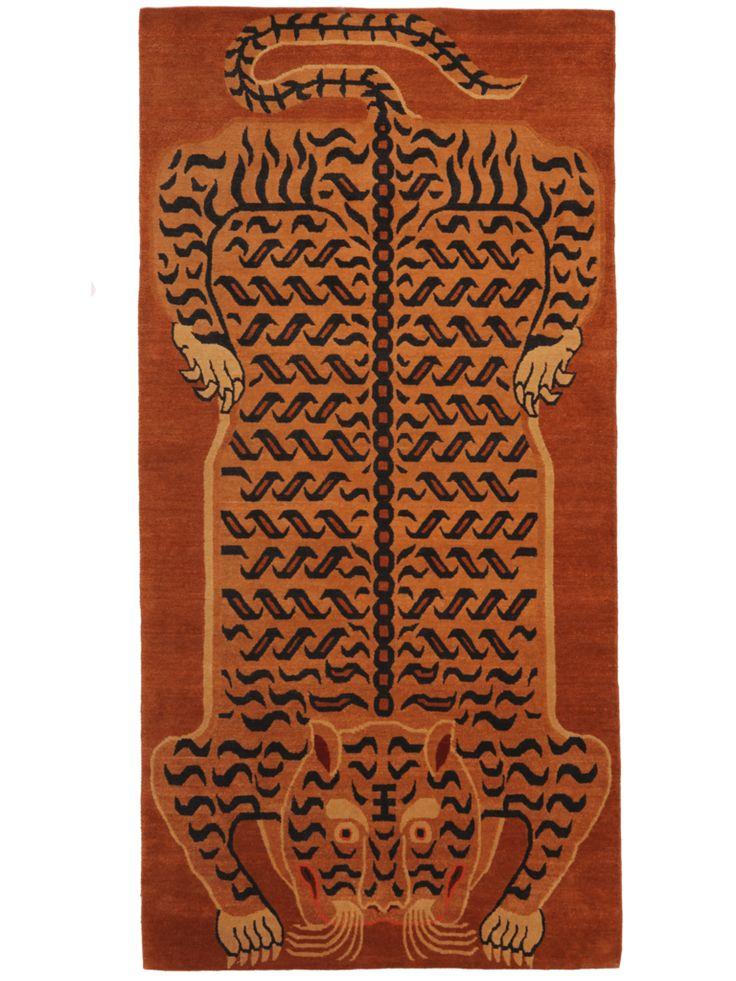 Mystical Tak - Tiger - Ralo Tibetan #rug - Discover our story!  || @RaloTibetanRugs