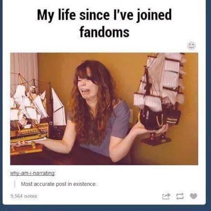 My life since I've joined fandoms: So many ships, which won't always sail... D: