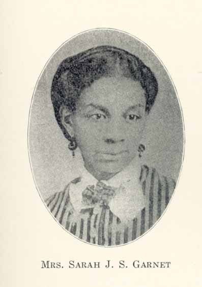 Sarah Smith Tompkins Garnet (7/31/1831- 9/17//1911) was born to prosperous farmers in Brooklyn and taught at the African Free School before she became the first female African American principal in the New York City public schools. She was married to abolitionist Henry Highland Garnet and her sister, Susan McKinney Steward, was the first female African American physician in New York. #TodayInBlackHistory