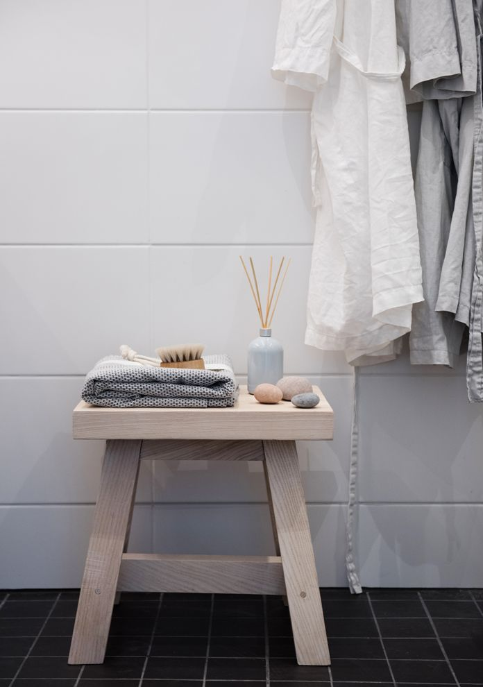 Serene bathroom atmosphere