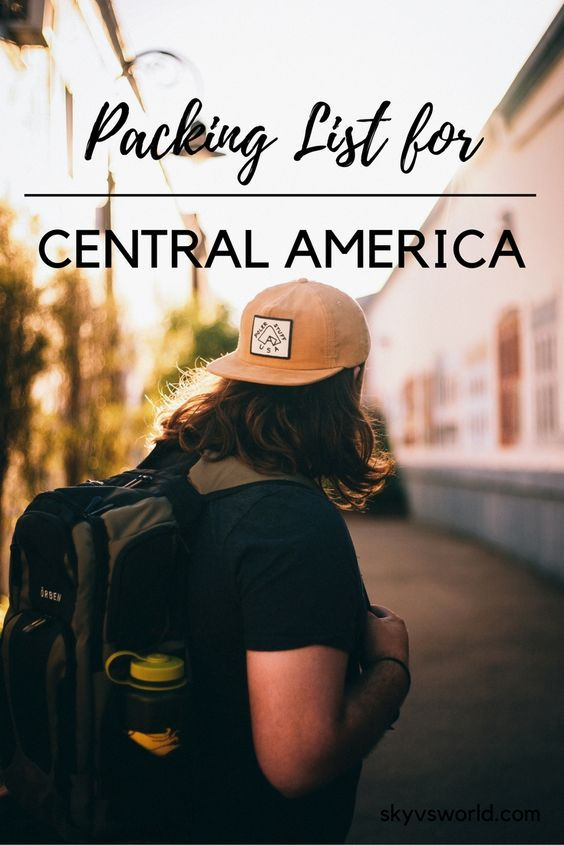 Heading to Central America? Here's my packing list for backpacking Central America solo!: