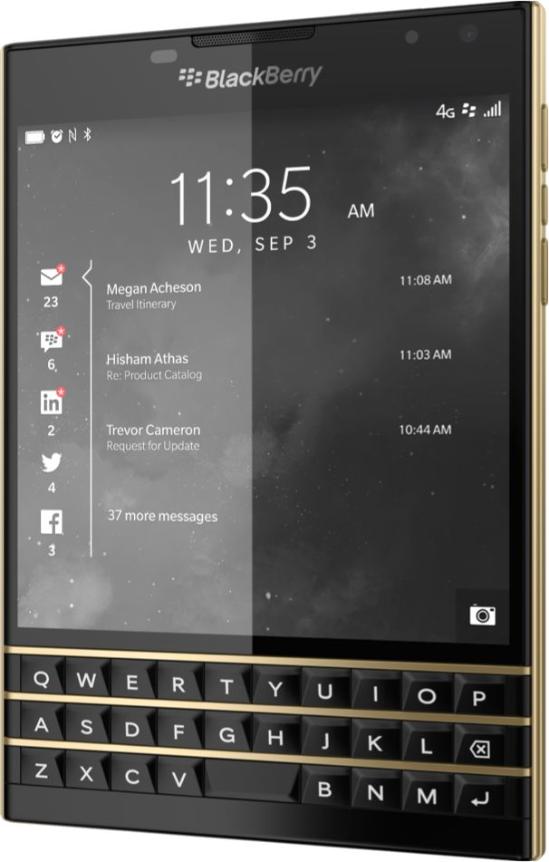 Limited Edition Black & Gold BlackBerry Passport