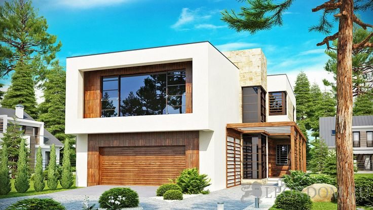 Проект частного индивидуального дома. Не дорогое строительство из кирпича, газобетона или тёплой керамики.
