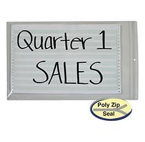 Poly zip shop ticket holder for 13x16-3/4 insert,50/bx