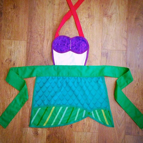 Little Mermaid Disney Princess Apron - Adult/Child Options by HomemadeByJadeH on Etsy https://www.etsy.com/listing/214781722/little-mermaid-disney-princess-apron