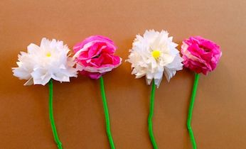 How To Make Tissue Paper Flowers | Flower Craft | Kids Activities | mothers day craft