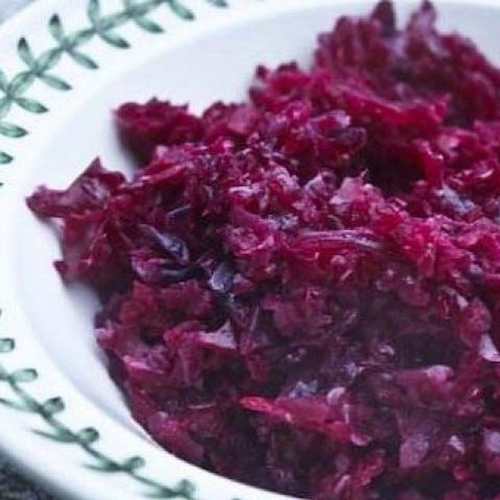 "Grandma Jeanette's Amazing German Red Cabbage Recipe ""will sub carrots for apples and caraway seeds for cloves."""