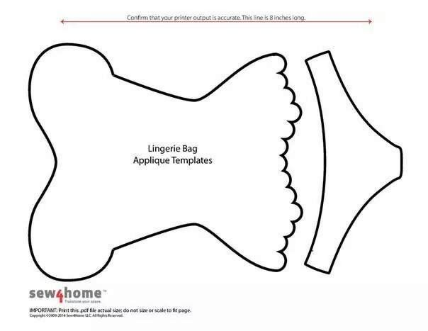 Lingerie bag applique templates