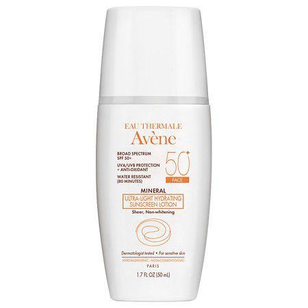 Avene Mineral Ultra-light Hydrating Sunscreen Lotion Spf 50+ - 1.7 Oz.