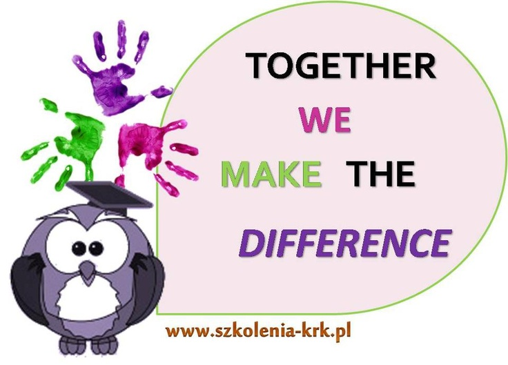 #szkoleniakrk Together we make the difference #people #changes #difference #quotes
