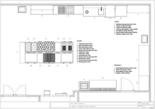 Planos de cocinas de restaurantes 3d buscar con google for Planos de una cocina industrial