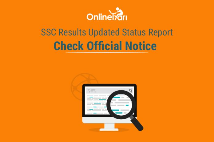 SSC Results Updated Status Report: Check Official Notice  https://goo.gl/zABCf4 #SSC results#SSC official notice #SSC exam update