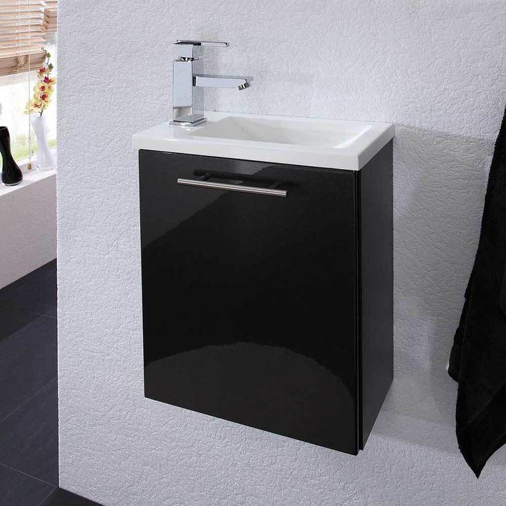 Hochglanz Waschtisch In Anthrazit Weiß 40 Cm Breit Jetzt Bestellen Unter:  Https://