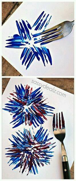 vuurwerk maken met een vork